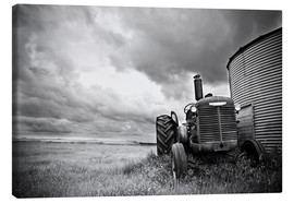 Toile  melancholic tractor