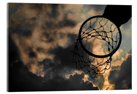 Verre acrylique  Basketball hoop and sky