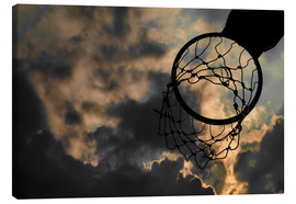 Tableau sur toile  Basketball hoop and sky