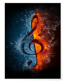 Poster  Fire and water music
