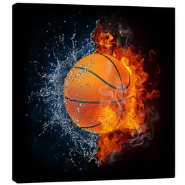 Toile  Basketball in the battle of the elements