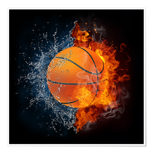 Poster Basketball in the battle of the elements