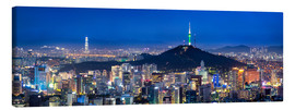 Toile  Seoul panorama at night overlooking Namsan and N Seoul Tower - Jan Christopher Becke