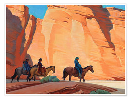 Poster Navajos in a Canyon