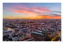 Poster  Vienna Skyline at sunset, Austria - Mike Clegg Photography