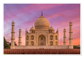 Poster  Taj Mahal, Inde - Mike Clegg Photography