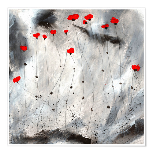 Poster Petits coquelicots