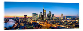 Verre acrylique  Skyline panorama from Frankfurt - Jan Christopher Becke
