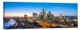 Toile  Skyline panorama from Frankfurt - Jan Christopher Becke
