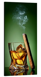Alu-Dibond  Cigar on the rocks