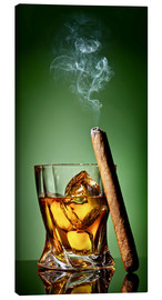 Toile  Cigar on the rocks