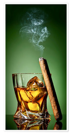 Poster  Cigar on the rocks