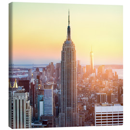 Tableau sur toile  Empire State Building in New York City at sunset - Jan Christopher Becke