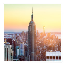 Poster  Empire State Building in New York City at sunset - Jan Christopher Becke