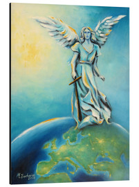 Alu-Dibond  Archangel Michael - Hand painted Angel Art - Marita Zacharias