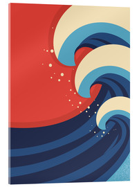 Verre acrylique  The Great Wave