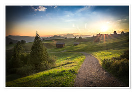 Poster  Seiser Alm in the morning, South Tyrol - Frank Fischbach