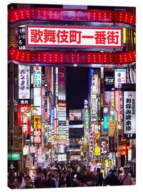 Toile  Colorful neon signs in Shinjuku district in Tokyo, Japan - Jan Christopher Becke