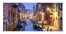 Poster  Venice panorama at night - Jan Christopher Becke
