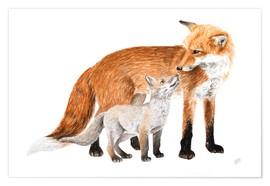 Poster foxes
