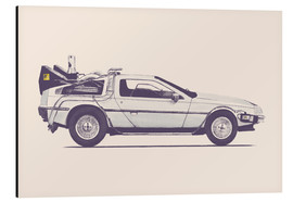 Tableau en aluminium  Delorean - Florent Bodart