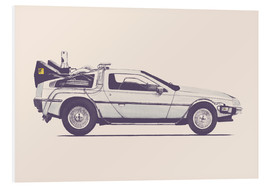 Tableau en PVC  Delorean - Florent Bodart