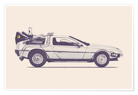 Poster  Delorean - Florent Bodart