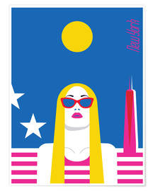 Poster Voyager avec style - New York