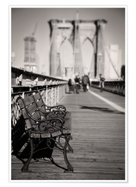 Denis Feiner - Bench on Brooklyn Bridge