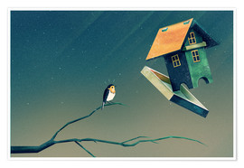 Poster  Flying Bird   House - Romina Lutz
