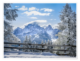 Poster  Winter in the Sesto Dolomites, South tyrol, Italy - Christian Müringer