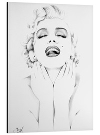 Tableau en aluminium  Marilyn Monroe - Ileana Hunter
