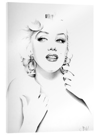 Verre acrylique  Marilyn Monroe - Ileana Hunter