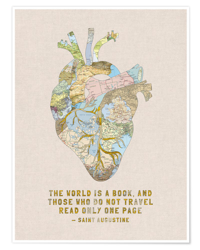 Poster A Travelers Heart + Quote