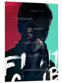 Tableau en PVC  Fight club (anglais) - Fourteenlab
