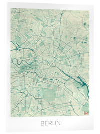 Verre acrylique  Berlin Map Blue - Hubert Roguski