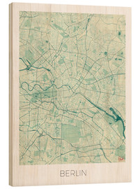 Bois  Carte de Berlin, bleu - Hubert Roguski