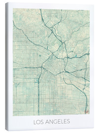 Toile  Los Angeles Map Blue - Hubert Roguski