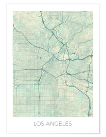 Poster Los Angeles Map Blue
