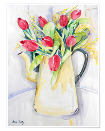 Poster Tulips in spring
