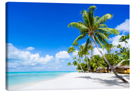 Toile  Palm beach in the South Pacific with white sand and blue sea - Jan Christopher Becke