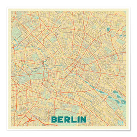 Poster  Carte de Berlin - Hubert Roguski