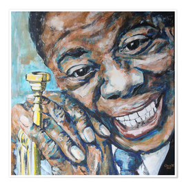 Poster  What a Wonderful World, Louis Armstrong - Christel Roelandt