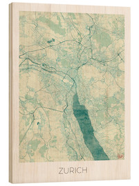 Bois  Zurich Map Blue - Hubert Roguski