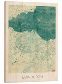 Bois  Edinburgh Map Blue - Hubert Roguski