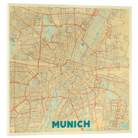 Verre acrylique  Munich Map Retro - Hubert Roguski