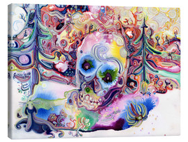 Tableau sur toile  A Skull in the Forest - Josh Byer