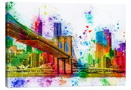 Tableau sur toile  New York with Brooklyn Bridge - Peter Roder