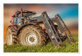Poster  Tracteur-chargeur - Peter Roder