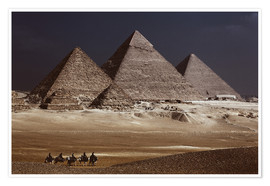 Poster  Pyramids of Giza, Middle East - Catharina Lux